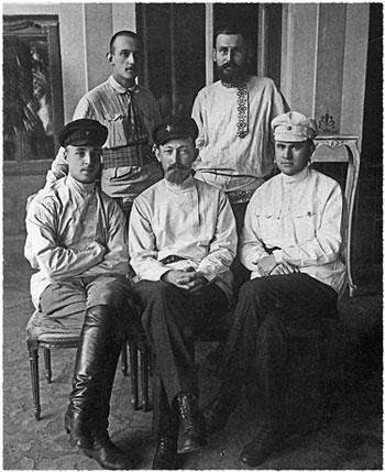 Ф.Э.Дзержинский с чекистами. 1921