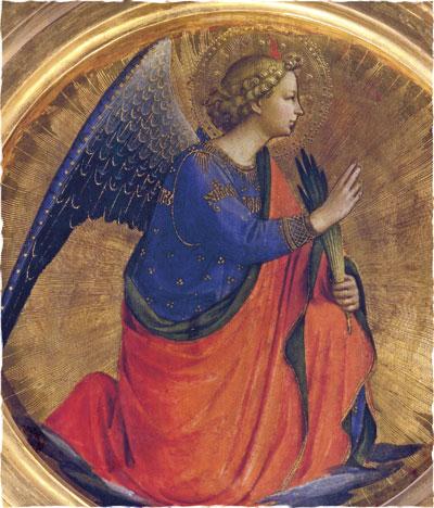 Фра Анжелико. Ангел Благовещения. Фрагмент алтаря в Перуджи. 1437