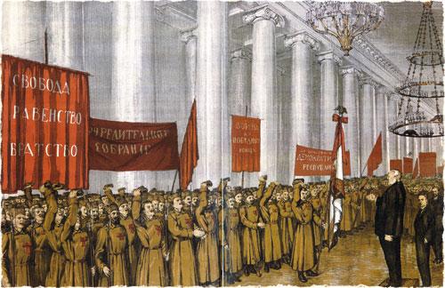 Речь М.Родзянко к лейб-гренадерам 23 февраля в Екатерининском зале Таврического дворца