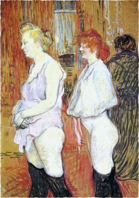 Анри де Тулуз-Лотрек. Улица Мулен: медицинский осмотр. 1894