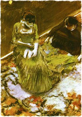 Эдгар Дега. Перед выходом на поклон. 1892