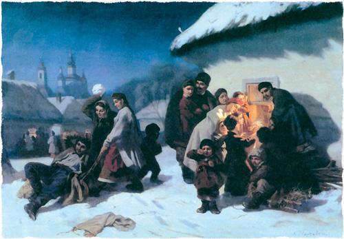 Константин Трутовский. Колядки в малороссии. Не позднее 1864