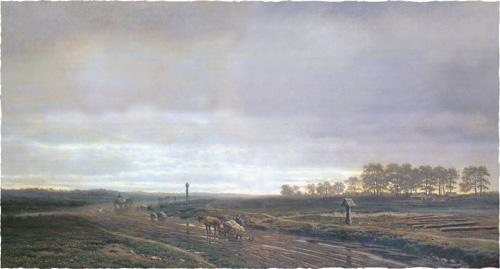 Михаил Клодт. Большая дорога осенью. 1863
