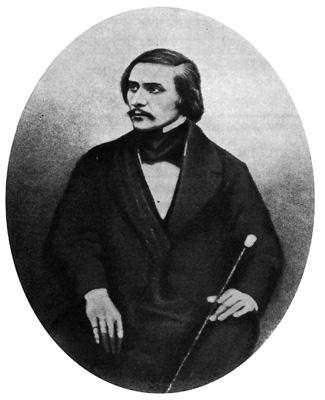 ФотоПортрет Н. В. Гоголя, скадрированный из группового дагерротипа С. Л. Левицкого. 1845