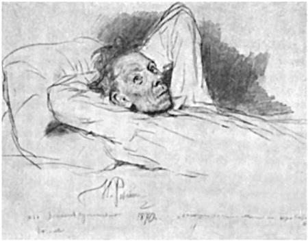 Иллюстрация Ильи Репина к «Запискам сумасшедшего»