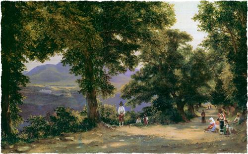 Михаил Лебедев. Альбано. 1836