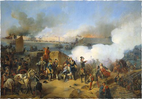 Август фон Коцебу. Штурм крепости Нотебург 11 октября 1702 года. 1846