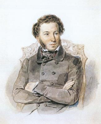 Петр Соколов. Портрет А. С. Пушкина. 1836