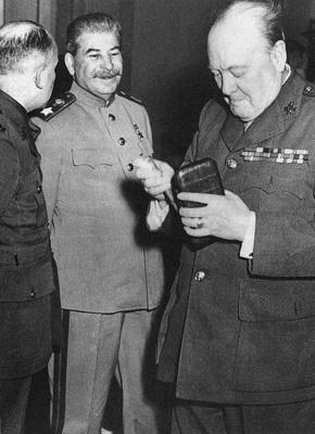 Черчилль и Сталин. Ялта. 1945