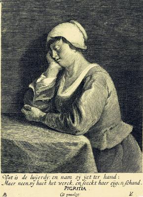 Лукас Востерман. Смертные грехи. Лень. 1622—1628