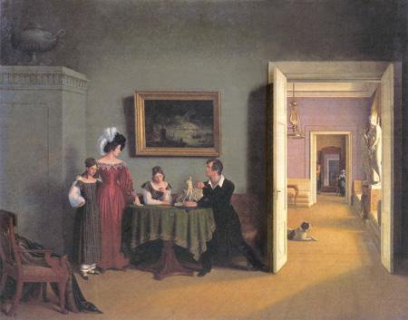 Федор Толстой. Семейный портрет. 1830
