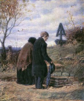 Василий Перов. Старики-родители на могиле сына