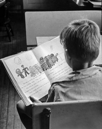 Нина Лин. Мальчик с книжкой. 1950