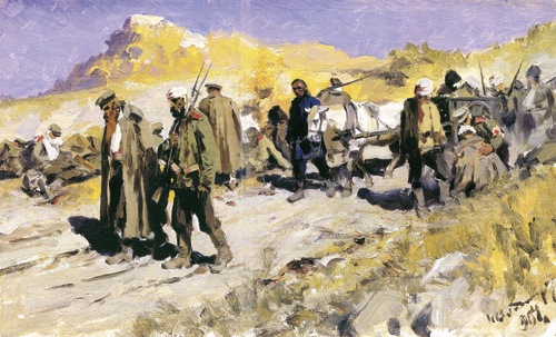 И. А. Владимиров. На перевязочном пункте. Манчжурия. 1904