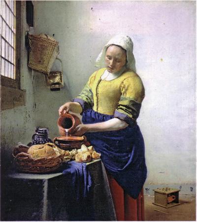 Ян Вермеер. Молочница (фрагмент). 1658